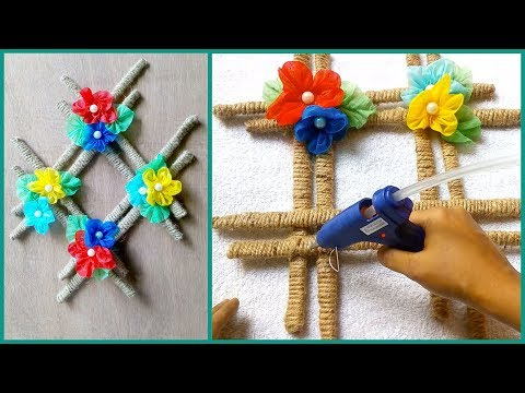 DIY: Shopping Bag Wall Hanging!!! How to Make Beautiful Wall Hanging With Jute Rope & Carry Bag
