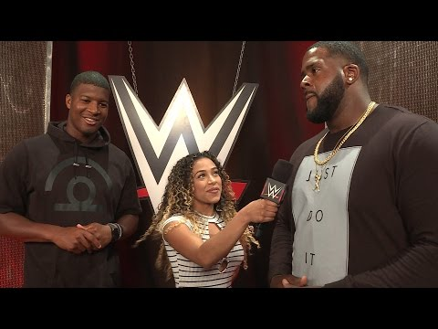 Jameis Winston and Donovan Smith go backstage at Raw: June 27, 2016