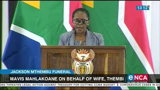 Jackson Mthembu Funeral | President still in disbelief
