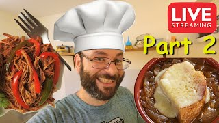 "French Onion Soup & Cuban Ropa Vieja ""Cuban Shredded Beef"" 