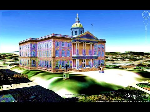 HISTORICAL PLACES OF NEW HAMPSHIRE STATE,U S A  IN GOOGLE EARTH