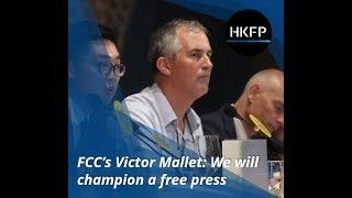 Victor Mallet, August 2018: Press club will champion free speech