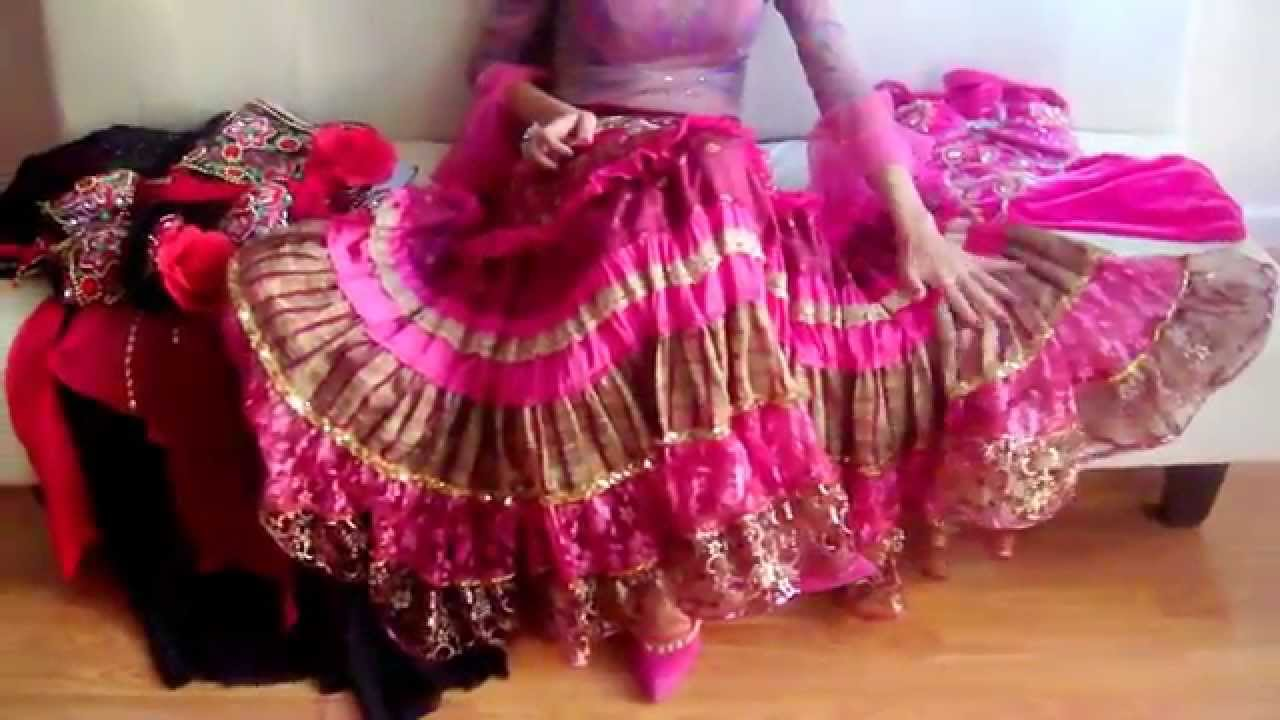 Цыганская юбка сшить видео