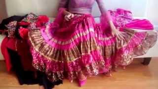 Цыганская юбка, вышивка бисером, сваровски. Шикарный костюм для танца