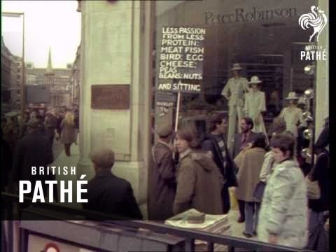 Tube Crowds Oxford Circus 19701979