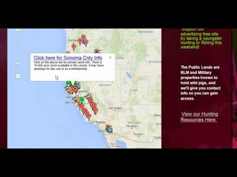 Freehuntfishmaps Com Best Pig Hunting In California Boar Hunting