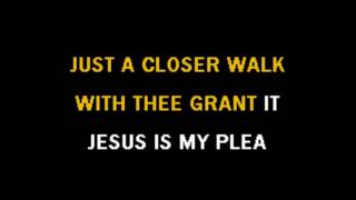 Karaoke Gospel Just A Closer Walk With Thee.mp4.mp4