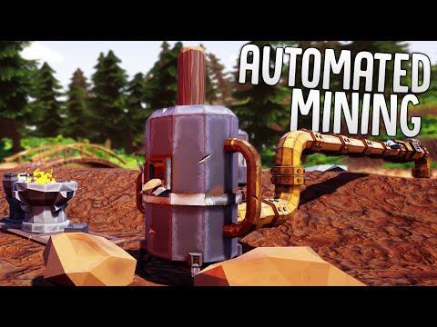 Using Water To Automate Gold Mining - Ram Drill Upgrade & Digging To Bedrock - Hydroneer