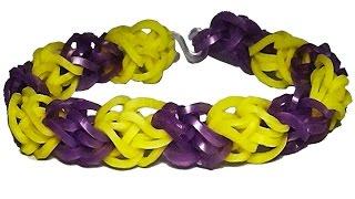 браслет резинок без станка. (на вилках) Діамантовий із резинок Rainbow Loom. Diamond bracelet