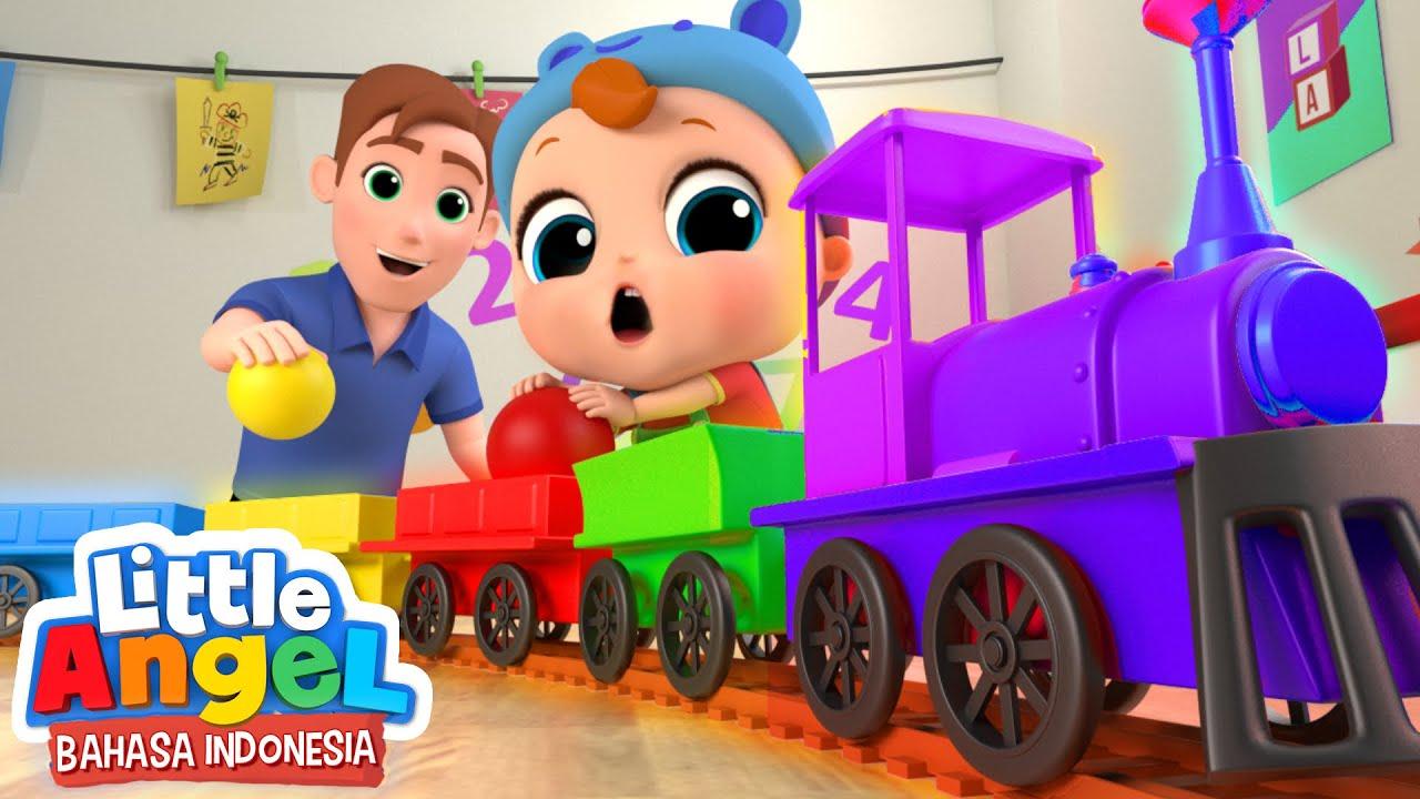 Gambar Kereta Versi Kartun Kereta Api Tut Tut Tut Roda Di Bus Versi Baru Lagu Anak Little Angel Bahasa Indonesia Youtube