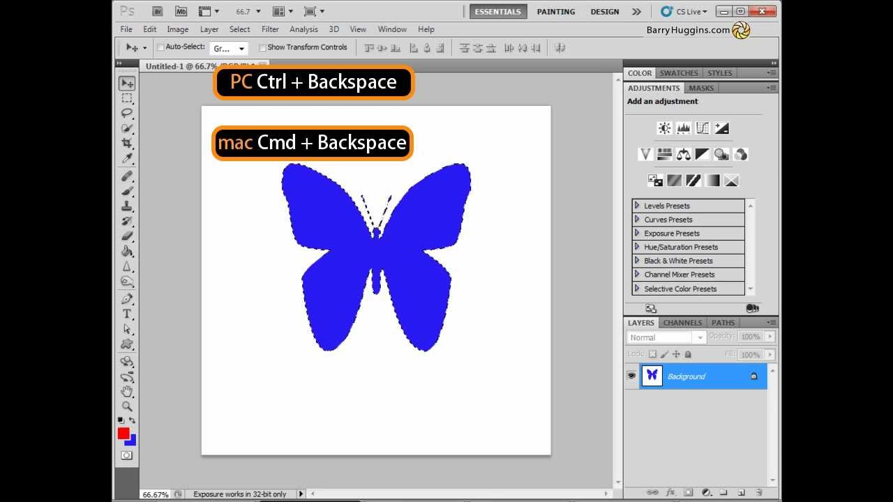 How to make a fill in Photoshop