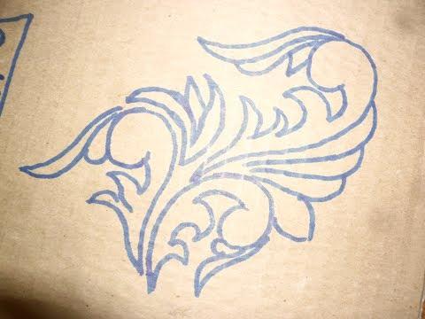 видео: Резьба по дереву.Как рисовать орнамент для резьбы.