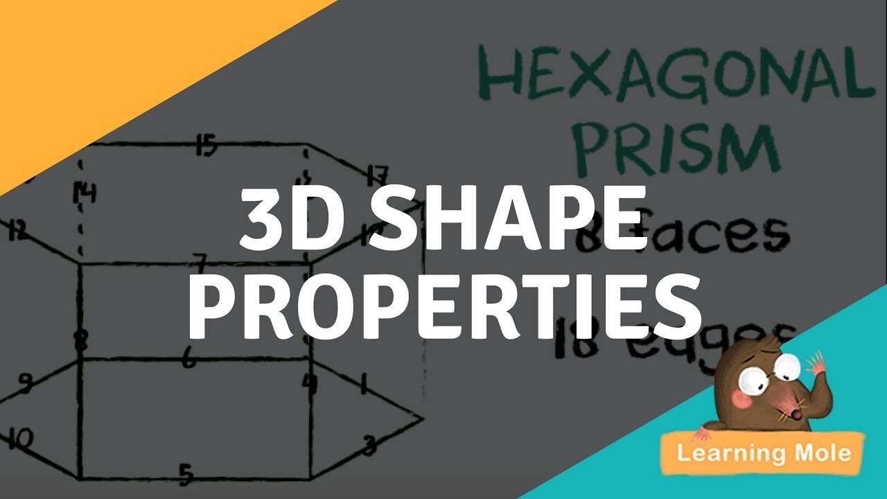 hight resolution of 3D Shapes for Kids - Learn the 3D Shape Properties - YouTube