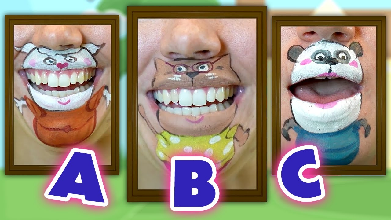 The ABC Song!   Wolfoo Chin Paint   Funtastic TV