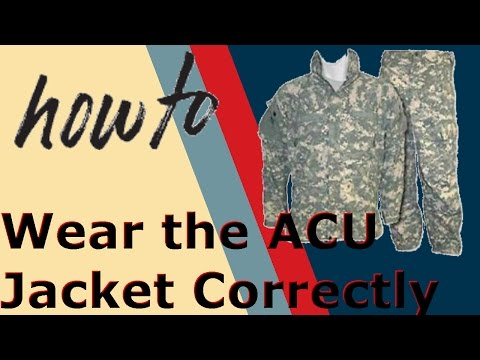 how to correctly wear the ACU jacket (jrotc)