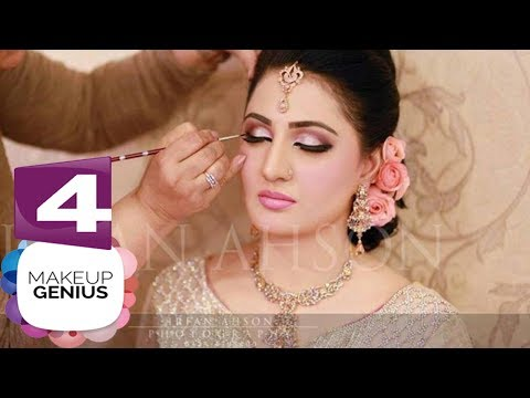 4 New Pakistani Bridal Makeup and Hairstyles Tutorial in Urdu / Hindi 2017