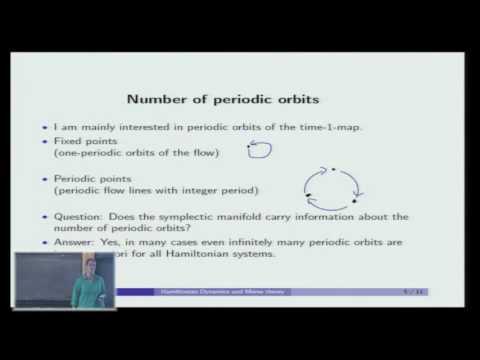 Hamiltonian Dynamics and Morse theory - Doris Hein