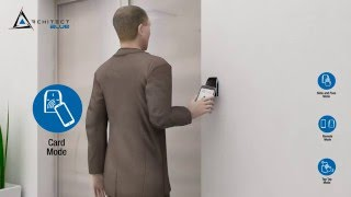 Architect® Blue access control readers, combining RFID and Bluetooth®