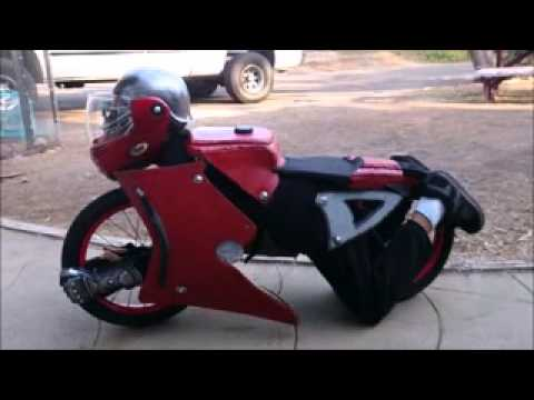 Homemade motorcycle  transformer  costume & Homemade motorcycle