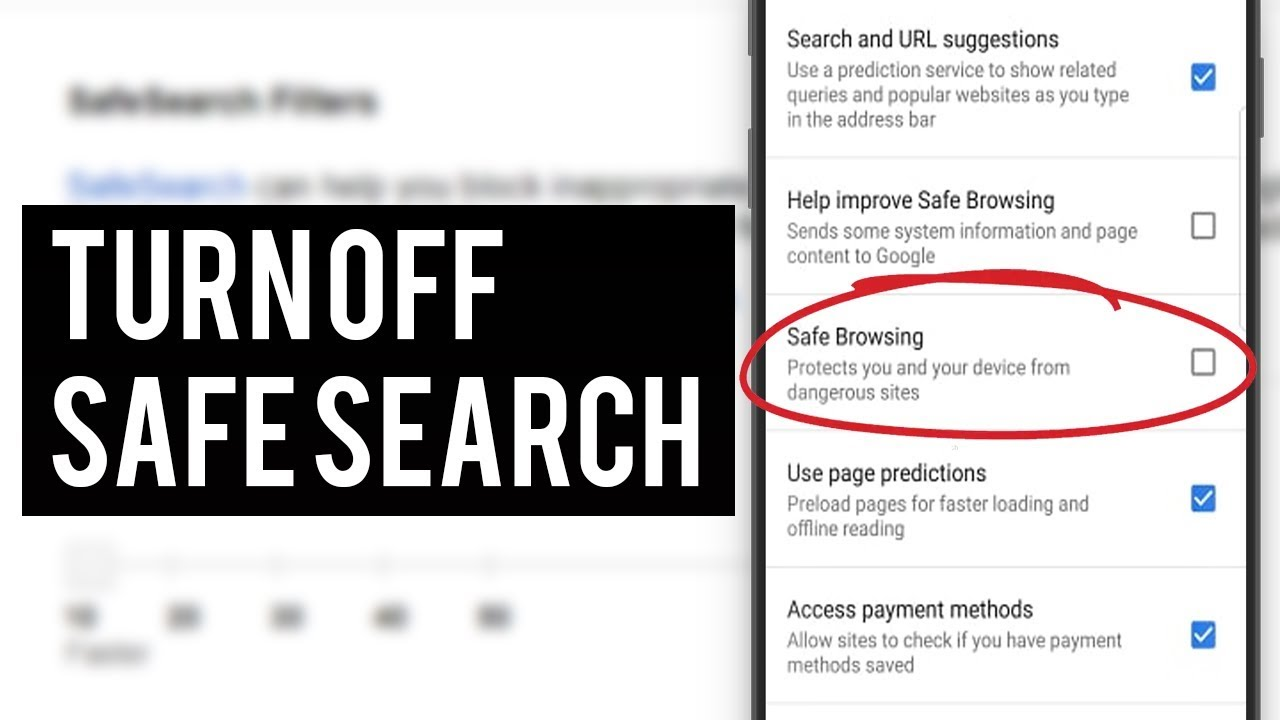 how to remove safe search on youtube