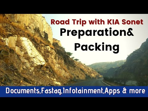 Road Trip preparation & Packing list/Road journey essential and accessories