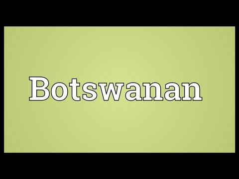 Botswanan Meaning