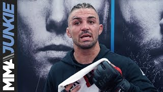 UFC on FOX 28's Mike Perry talks to media after his open workout in Orlando