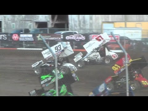 World Of Outlaw's  Larson-Abreu :Qualifying & Heats@ Attica Raceway Park 2017