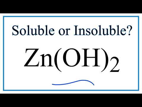 Is Zn(OH)2 Soluble Or Insoluble In Water?