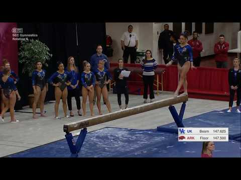 Katie Stuart Kentucky  Balance Beam 9.875  Kentucky at Arkansas 2018