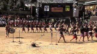 Zeliangrong Naga tribes performing Mathabu lui folk song
