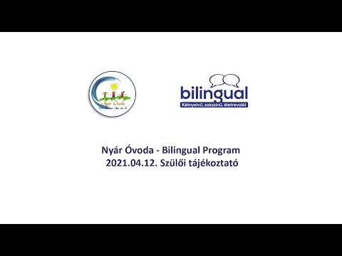 2021.04.12. - Nyár Óvoda és Bilingual Program - közös szülői tákékoztató