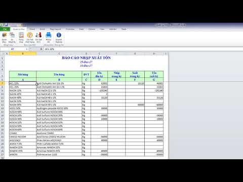 Quản Lý Kho Hiệu Quả Bằng Excel – Nhập Xuất Tồn