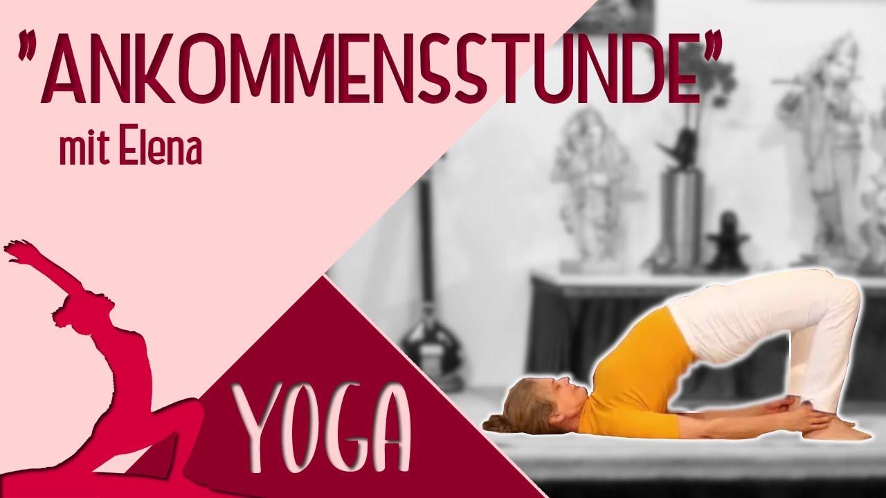 Yoga Ankommensstunde Mittelstufe Mit Elena Yoga Vidya Grundreihe Live 16 30 Uhr 16 10 2020 Youtube