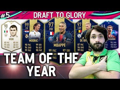 MOJ PRVI TEAM OF THE YEAR!! Draft To Glory #5 FIFA 19
