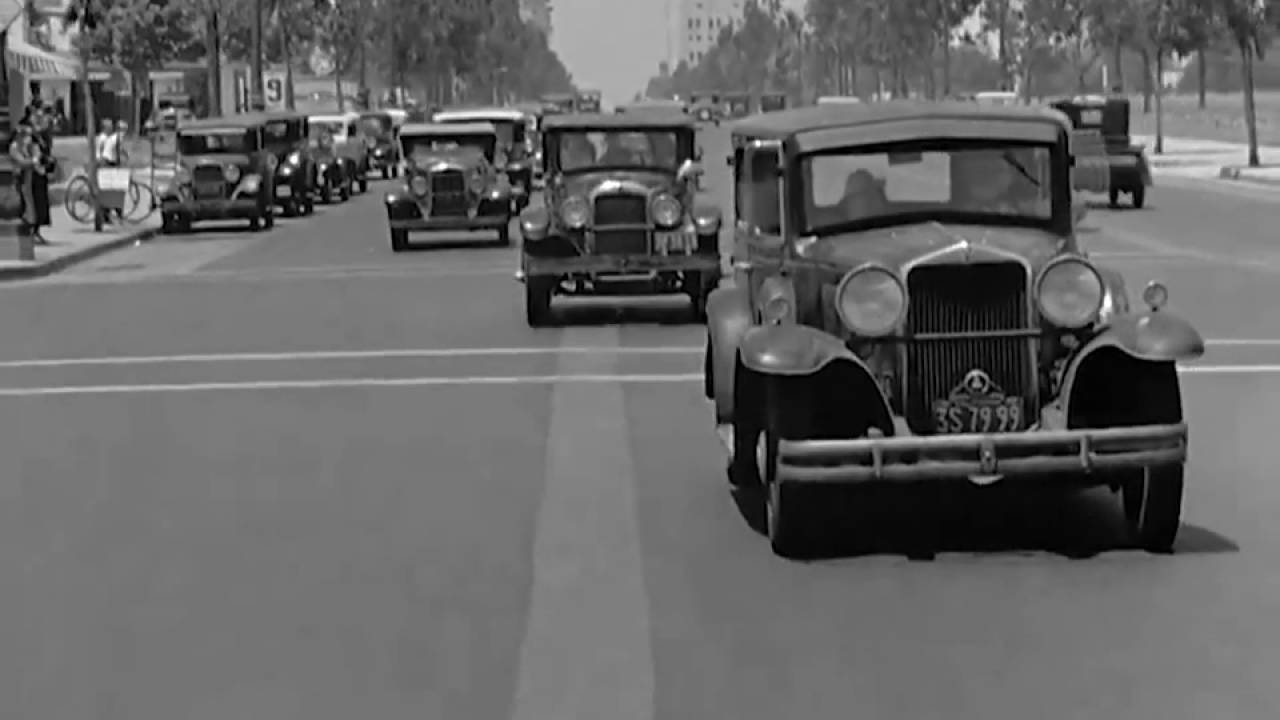 Vintage Cars-California-1936 Street Scenes - YouTube