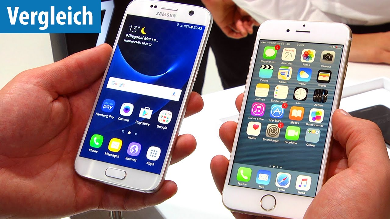 Iphone 6s Vs Samsung S7 >> Das Duell: Samsung Galaxy S7 vs. iPhone 6s | deutsch / german - YouTube
