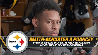 JuJu Smith- Schuster and Maurkice Pouncey on getting back on the field   Pittsburgh Steelers