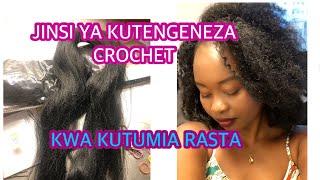 Jinsi ya Kutengeneza nywele ya crochet kwa kutumia rasta na mirija ni rahisi sana .