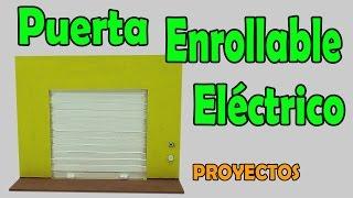 Proyectos   Puerta eléctrica Enrollable Casera (muy fácil de hacer)