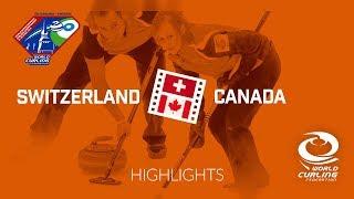 HIGHLIGHTS: Switzerland v Canada - Semi-finals - World Mixed Doubles Curling Championship 2018