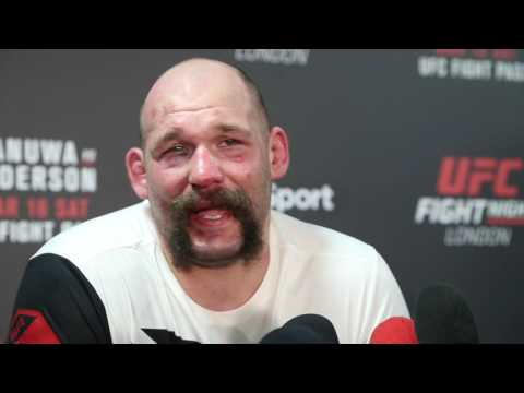 Post Fight Media Scrum with Timothy Johnson at UFC London