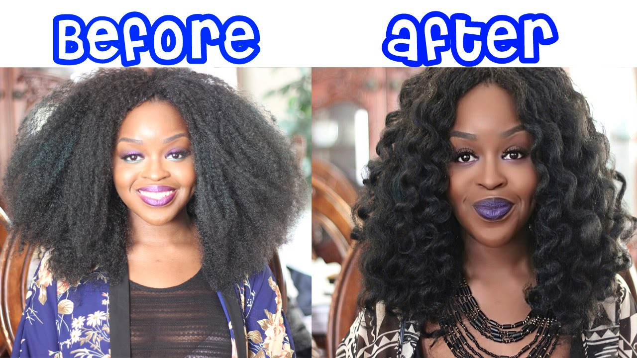 How to Curl Crochet Braids | Marley Hair | Janet