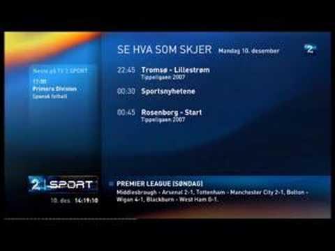 TV2 Sport programoversikt 2007