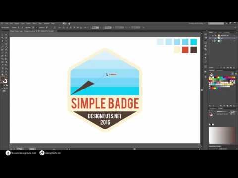 Adobe Illustrator Tutorial   How To Design Simple Badge Emblem Style Logo