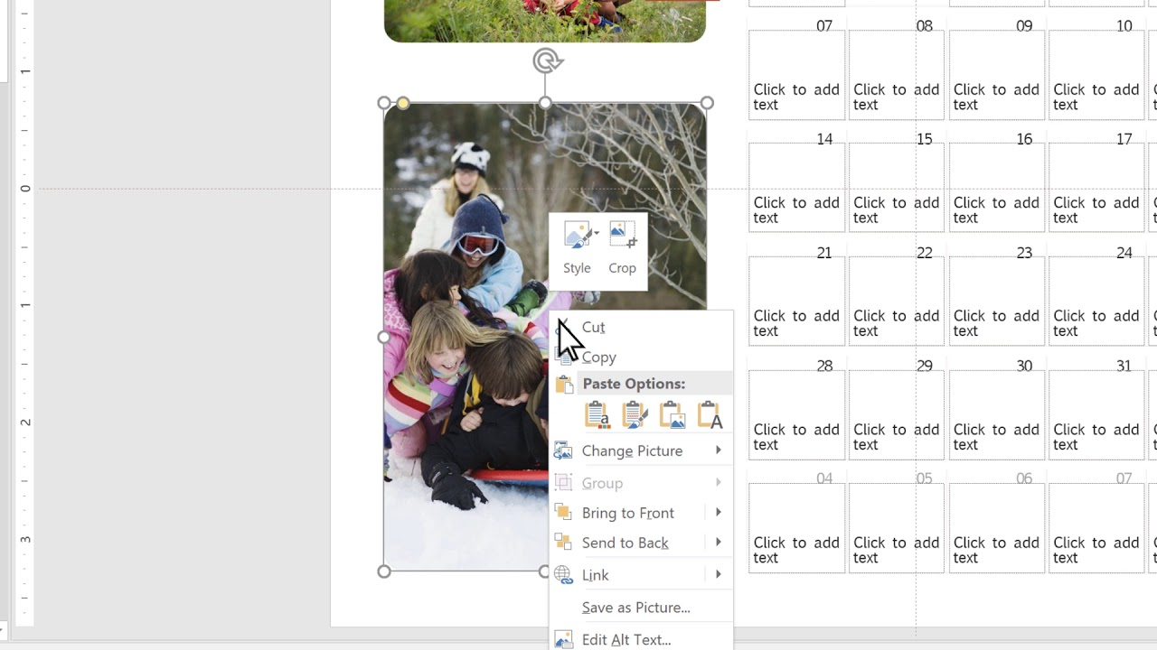 Holiday Tips: How to create a photo calendar in Microsoft Powerpoint