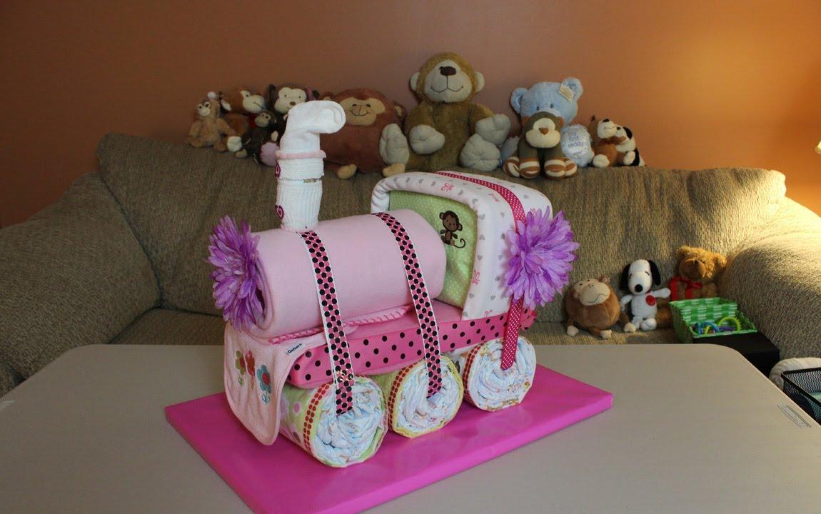 Choo Choo Train Diaper Cake  How To Make  YouTube