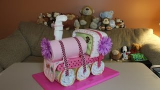 Choo Choo Train Diaper Cake - How To Make