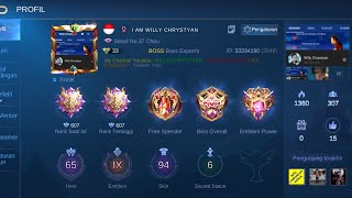 Live Mobile Legends . Push Mythical Glory 1000 Point