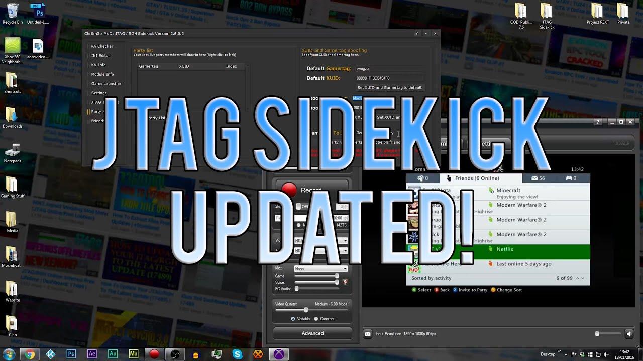 JTAG Sidekick | Party XUID Spoofing | Dash: 17489 | KV Checker | Updated |  +Download